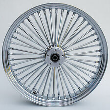 "FAT SPOKE 23"" FRONT WHEEL CHROME 23 X 3.5 HARLEY FLTR ROAD GLIDE 2000-2007"