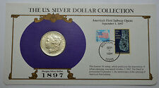 1897-P AU+ Morgan Dollar  Silver Coin & STAMPS ,THE US SILVER DOLLAR COLLECTION!