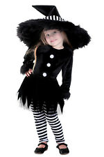 Emily the Witch Toddler Classic Costume Black Hat Dress Halloween 18 mo. 2T 4T