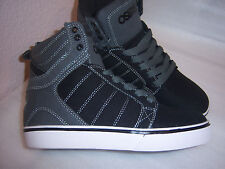 Osiris Brand Boys or Girls Gray Black Canvas High Top Shoes Size 4~5 New
