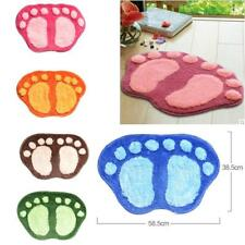Bath Mat Sets Non Slip Water Absorbent Bathroom Rugs Oval Shape Design