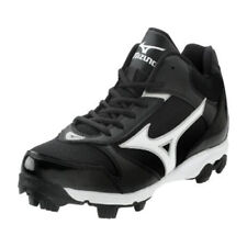 New Mizuno Men's 9 Spike Franchise 6 Mid Baseball Cleats Black and White
