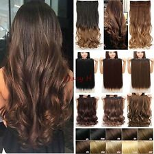 "Thick One Piece Full Head Ombre Clip in Hair Extensions AS Human 17"" 26""30"" H831"