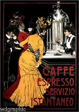 Cafe Espresso 1900 Coffee Advertising Giclee Poster or Canvas Print 20x28