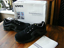 New Men's Women's UVEX 8511.8 Black Safety Trainers Shoes UK 9 EU 43 RRP £110