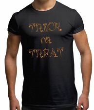 Trick or Treat Spooky Slogan Scary Halloween Easy Costume Mens T Shirt S-XXL