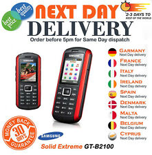 Samsung Solid Extreme GT-B2100 - Modern Black /Red Unlocked Mobile Phone