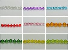 200 Transparent Acrylic Faceted Bicone Spacer Beads 10mm Pick Your Color