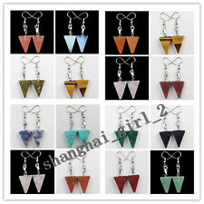 Mixed Gemstones Triangle Necklace Earrings Set or One Pair Earrings  XJ020