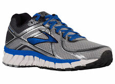 NEW MENS BROOKS ADRENALINE GTS 16 RUNNING SHOES TRAINERS SILVER / 2E WIDE