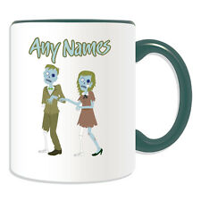 Personalised Gift Zombie Couple Mug Money Box Cup Walking Dead Devil Apocalypse