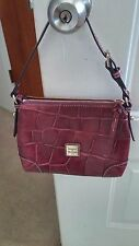Nice Dooney & Bourke Brown leather Pouchette  Handbag Purse NWOT 126712661