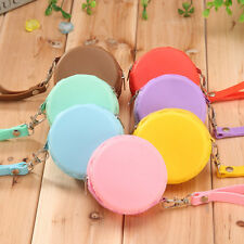 Women Gilr Silicone Round Wallet Coin Purses Clutch Money Bag Candy Color
