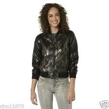 Bongo Junior's Bomber Jacket - Camo Synthetic Leather Shell RETAIL $60