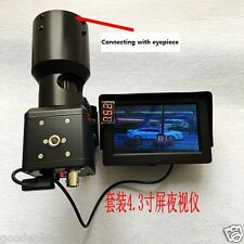 Hunting Day Night CCD Camera Night Vision Scope f Rifle Scope w/ Connecting Tube