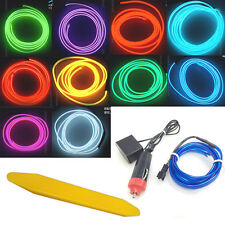 8M 2.3mm Neon LED Cold light EL Wire String Strip Rope Tube Car Dance Party 12V