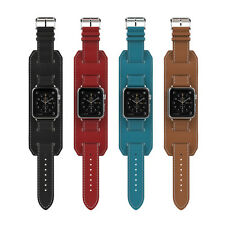 Genuine Leather Watch Band Cuff Buckle Bracelet for Apple Watch 42mm