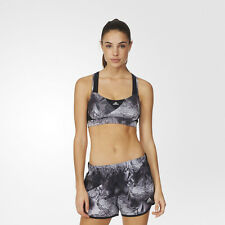 Adidas Supernova Womens Black Climalite Running Sports Bra Support Top