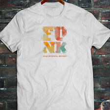 Funk Old School Vintage Music Classic Retro Disco Mens White T-Shirt