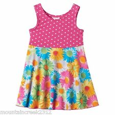 YOUNGLAND Girls Dress Size 12 18 24 months Polka Dot Floral Sleeveless NEW