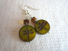 Handmade Czech Glass Dragonfly, Seahorse and Swallow Bird Earrings Free US Ship!