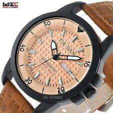 New Fashion Quartz Sport Dial Leather Strap Analog Stainless Wrist Watch Gift MN