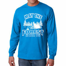 T Shirt Forest S Be With You Long Sleeve Tee Camping Hiking Outdoor Camp Tree V