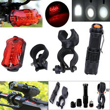 1200Lm Q5 LED Flashlight Bicycle Front Light Torch+Holder+5 LED Rear Tail Light