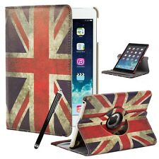 Union Jack Leather 360° Degree Rotating Stand Case Cover For Apple iPad Tablets