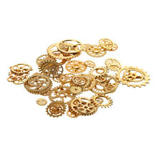 100g Mix Alloy Steampunk Gear Charms Pendants DIY Jewelry Making Findings 1-3cm