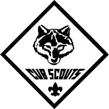 Cub Scouts - Wolf - Vinyl Car Window and Laptop Decal Sticker