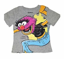 Disney Muppets Baby Animal Jumping Tee Shirt Grey Toddler Tee T Shirt