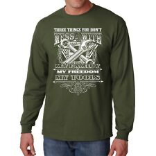 Mechanic T Shirt S Long Sleeve Don't Mess Family Freedom Tools Funny Tee Humor L