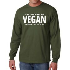 Vegan Long Sleeve T Shirt Funny Tee Eat Vegetable Possum Animal Lover S Mammal L