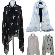 Summer Scarf Women's Scarf Penguin Print Horse  Animal Print Penguin Scarf