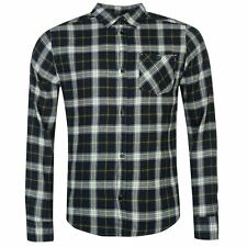 Soviet Flannel Checked Shirt Long Sleeve Cotton Mens