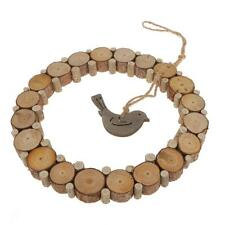 Rustic Wooden Annular Love Bird Home Hanging Decoration