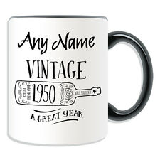 Personalised Gift Vintage Wine Year 1950 Mug Money Box Cup Fun Novelty Fifties