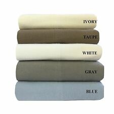 ALL NATURAL 100% COTTON SOLID COLOR FLANNEL SHEET SETS