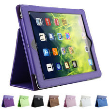 For iPad 2/3/4 litchi protective leather case flip sleep wake up function