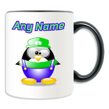 Personalised Gift Silly Luigi Mug Money Box Cup Fun Novelty Penguin Plumber Name