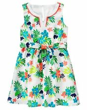 NWT Gymboree SUNNY SAFARI Girl Tropical Floral Belted Poplin Dress Size 4 6 7 8
