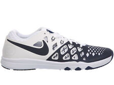 NEW MENS NIKE TRAIN SPEED 4 CROSS TRAINING SHOES TRAINERS WHITE / COLLEGE NAVY