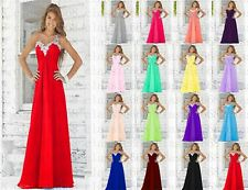 Long Sequin Formal Evening Ball Gown Party Prom Bridesmaid Dress Stock Size 6-18