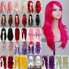 80cm Fashion Full Wig Long Straight Wig Cosplay Party Costume Anime Hair Fancy G