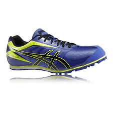 ASICS Hyper LD 5 Mens Yellow Blue Running Sport Track Spikes Shoes Trainers