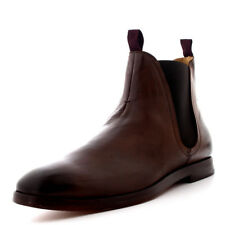 Mens H By Hudson Tamper Leather Ankle Smart Work Office Chelsea Boots UK 6-12