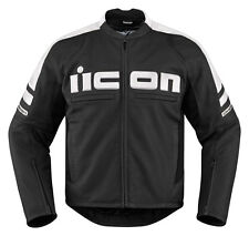 ICON MOTORHEAD 2 Leather Motorcycle Jacket (Black/White) Choose Size