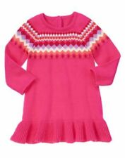 NWT Gymboree Color Happy Girl Dress SZ 2T Chevrons Sweater Dress