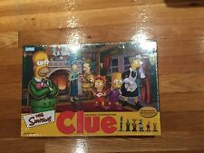 The Simpsons : Clue Board Game 2nd Edition Brand New Factory Sealed